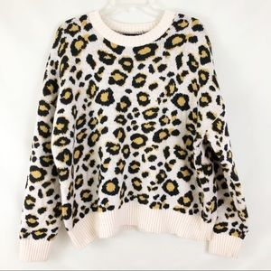 Forever 21 Leopard Crew Neck Sweater Size  2X